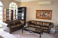 Croco Leather Sofa Set