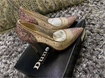 New Brand Shoes From Dune London Size 38 Clutch rose gold color