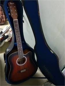 Brand New Steel Acoustic Guitar with Free Hard Case