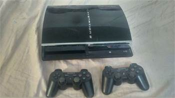 Ps3 +2 Controllers + Hdmi+Power Cable For Sale