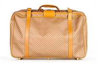 Authentic Gucci vintage gg print luggage bag suitcase leather