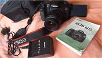 60d Canon Dslr With Lens 18-55  Bag Card