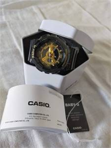 NEW BABY G Analog watch Black & Gold for SALE