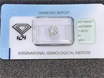 IGI certified 1.52ct Diamond available for sale