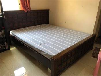 Heavy Duty King Size Bed With Home Center Matress For Sale