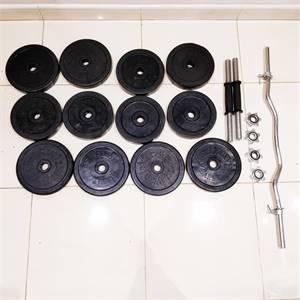 50KG of rubber finishes adjustable dumbbell set for home workout