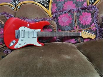 Custom Red Electric Guitar - Interesting Instruments