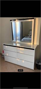 6 Draw Dresser Table With Mirror