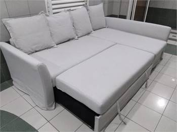 IKEA L shape sofa bad
