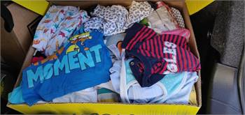 2 carton boxes full of baby clothes