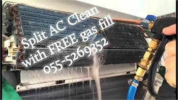 split ac clean with free gas fill 055-5269352 maintenance repair cheap handyman services ikea used