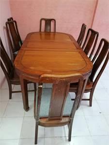 8 chair dainig table original wood strong