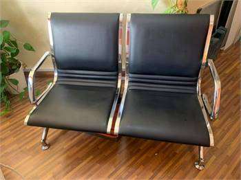 Two seater steel sofa