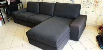 IKEA kivik sofa L shape with ottoman