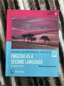 Pearson Edexcel IGCSE English textbook for sale