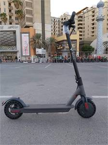 Electric scooter with apps,bluetooth /solid tyre worth 350( 1 week used ) almost new rush !!