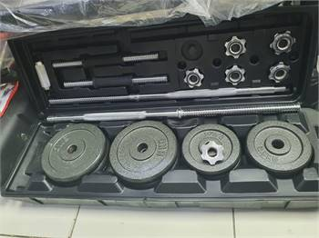 50 Kg weight set box with barbell & dumbbells