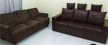 Sofa Brown 3+3 seater