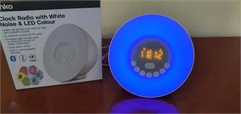 Digital Clock Radio & Bluetooth speaker with 6 Nature Relaxation sound