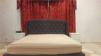 Bed With Mattress And Side Table